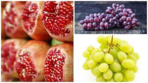 Frutos carnosos como la uva o la granada se recomiendan para casos de hipertiroidismo.