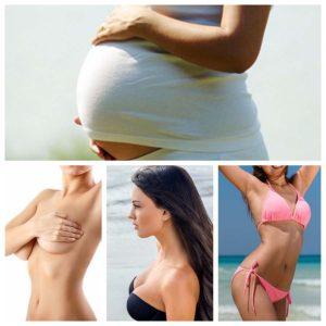El embarazo genera cambios en el cuerpo de la mujer, especialmente en el pecho.