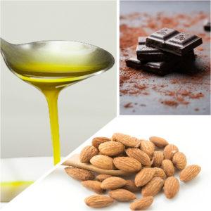 El aceite de oliva, el chocolate y las almendras son alimentos que pueden llegar a fortalecer tu cabello.