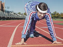 Chica deporte con maratón