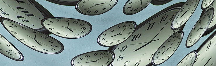 Dibujo que simboliza el paso del tiempo