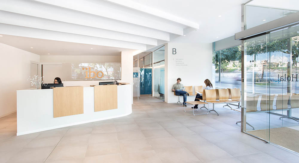 Instalaciones del Instituto Balear de Oftalmología - IBO, centro oftalmológico de referencia en Palma de Mallorca.