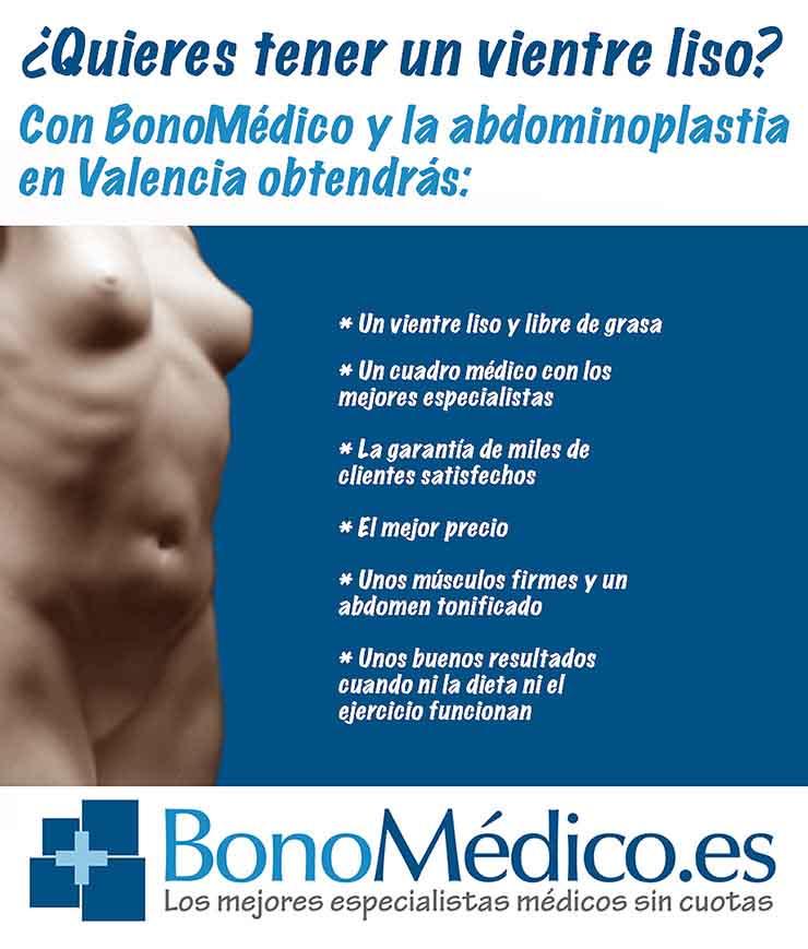 Estas son algunas de las ventajas de las que podrás disfrutar con una abdominoplastia en Valencia gracias a BonoMédico.