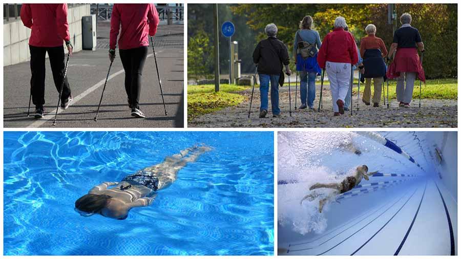 La natación y el Nordic Walking son otros dos deportes recomendados tras una artroscopia de cadera en Madrid.