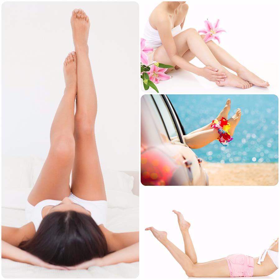 Las piernas es una de las zonas más solicitadas para la depilación láser en Málaga.