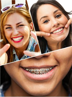 Las visitas a ortodoncistas y dentistas pueden combinarse para alcanzar un mejor resultado final.