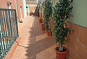 Terraza en una residencia de ancianos en Córdoba
