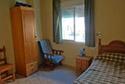 Dormitorio individual en una residencia de ancianos en Badajoz