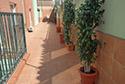 Terraza en una residencia de ancianos en A Coruña
