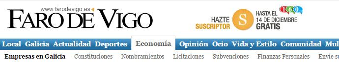 Notica en Faro de Vigo