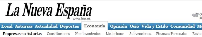 Notica en La Nueva España